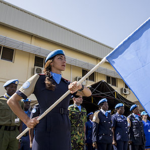 Commemoration Ceremony and Parade on the occasion of the International Day of United Nations Peacekeepers.  The event was held in Juba, South Sudan at the Headquarters of the United Nations Mission in South Sudan [UNMISS] under the theme 'Honouring Our Heroes'.UNPOL.