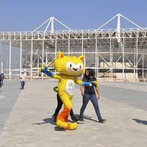 Prefeito Eduardo Paes, e o presidente do Comitê Rio 2016, Carlos Arthur Nuzman, recebem jornalistas, no Parque Olímpico da Barra da Tijuca, para agenda que marca um ano para os Jogos Olímpicos (Tânia Rêgo/Agência Brasil)