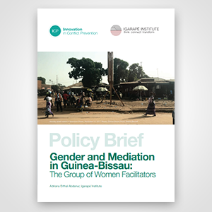 Policy Brief Gender and Mediation in Guinea-Bissau