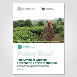 The Limits of Conflict Prevention Efforts in Burundi