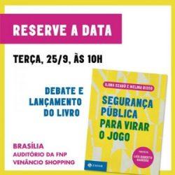 FNP promove lançamento de livro sobre segurança pública no dia 25