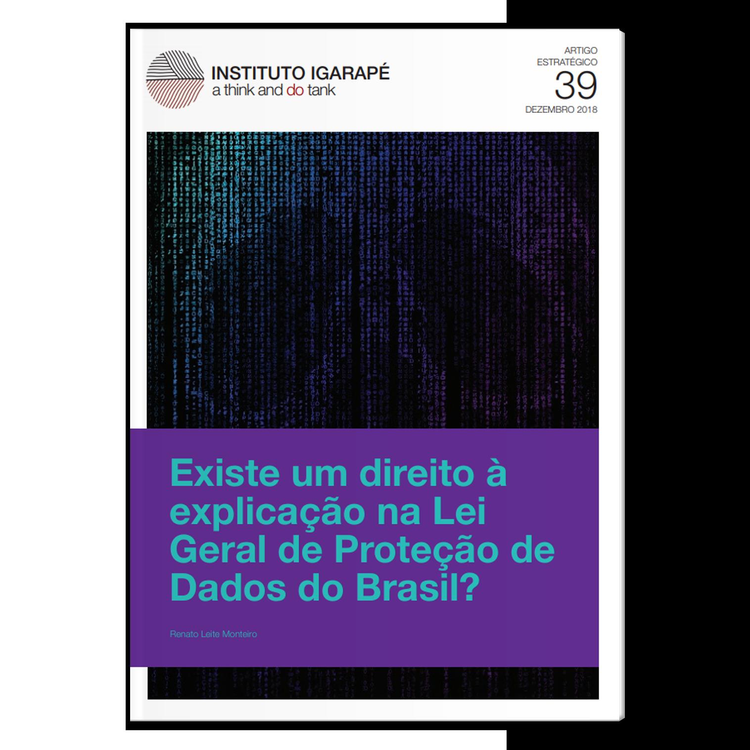 AE39 Lei Geral de Proteção de Dados no Brasil